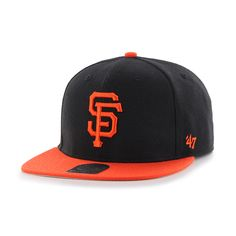 San Francisco Giants No Shot Two Tone Captain Black 47 Brand YOUTH Hat