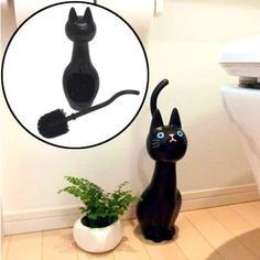 Every+Cat+Themed+Bathroom+Needs+This+Cat+Toilet+Brush