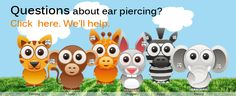 Frequently asked questions and answers about ear piercing