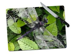 Dragonfly Tempered Glass Cutting Board