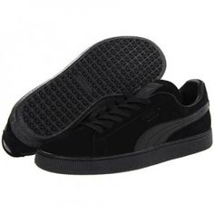 Puma Suede Classic Sneakers in Black as seen on Rihanna