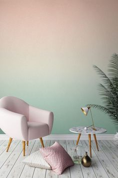 Love This Colour Palette? Peachy Tones Gently Fade Into A Rejuvenating  Mintyu2026