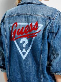 premium selection 76e50 73649 GUESS Originals  90s Iconic Denim Jacket Holiday Fashion, 90s Fashion,  Womens Fashion,
