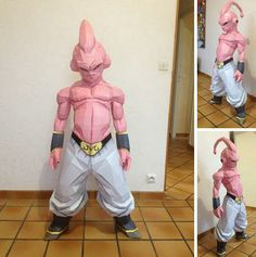 Dragon Ball Z - Kid Buu Paper Model In 1/1 scale - by Paper Juke        From Dragon Ball Z Japanese Anime, here is Kid Buu, in life size (130 cm tall), created by French designer Paper Juke. To view and print this model you will need Pepakura Viewer Free Version (link at the end of this post).