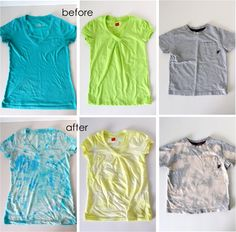 TUTORIAL: Acid Washed Tees | MADE  (spray bottle of bleach) great idea for stained-yet-loved t-shirts