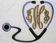 Nurses Day - Nurse Doctor Monogram Embroidery Design   Apex Embroidery Designs, Monogram Fonts & Alphabets