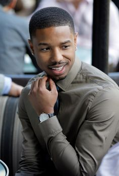 Michael B. Jordan looked hot as ever at a Spirit Awards nominee brunch in LA in January 2014.