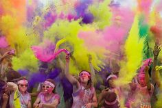 Color Run (in CA). What an awesome thing to participate in...hopefully I can do it next year!