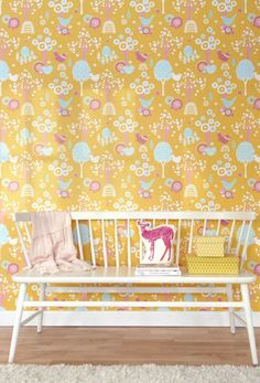 Majvillan Kids Wallpaper: Cherry Valley by Majvillan   JUST KIDS WALLPAPER™