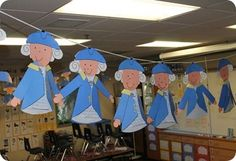 Awe look at those little George Washington projects! February Holidays, School Holidays, School Fun, School Ideas, January, Classroom Art Projects, School Projects, Classroom Ideas, Social Studies Activities
