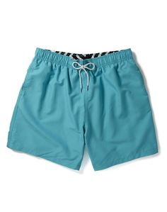 5bf0199aed Boardies Mid Length Swim Shorts Cyan Blue| Shop now at The Idle Man | #