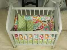 Barbie Sized Baby Crib - 1/6 scale perfect for Fashion Doll Kids