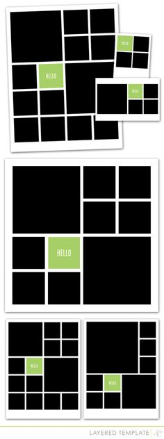 Studio Calico Neverland Digital Layout Templates in 12x12, 8.5x11. 6x8, 4x6 and…