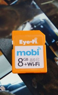 The Eyefi is a Wi-Fi-connected SD cards that bring wireless abilities to previously unconnected devices.