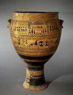 Krater, c. 740 BCE, from Dipylon Cemetary, Athens (Geometric and Orientalizing) The Dipylon Master was an ancient Greek vase painter who was active from around 760-750 BCE. He worked in Athens.