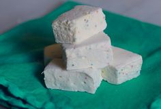 Homemade Birthday Cake Marshmallows, all you need to do is dip them in dark chocolate!