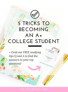 Being an A student is hard, but it's not out of your reach! In this post you'll learn five things that you can do to help you become an A college student! College Club, College Success, College Hacks, School Hacks, College Life, School Tips, Student Studying, Student Life, College Students