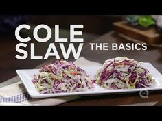 Basic Coleslaw Serves 6 to 8  Ingredients: 3 cups shredded green cabbage 2 cups shredded red cabbage ½ cup thinly sliced white or red onion (about ¼ onion), rinsed with water 1 cup shredded carrots ½ teaspoon salt  Vinaigrette: ½ cup white wine vinegar 3 tablespoons sugar 1 teaspoon mustard powd...