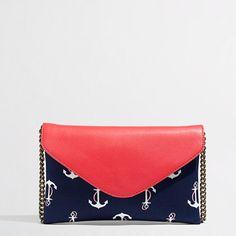 Factory envelope clutch in printed anchor - Handbags & Accessories - FactoryWomen's New Arrivals - J.Crew Factory