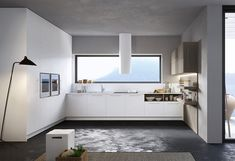 Fitted kitchen with integrated handles ROUND Kitchen Island, Kitchen Cabinets, Kitchen Furniture, Modern Contemporary, Kitchen Design, Home Decor, Kitchens, Vogue, Rooms