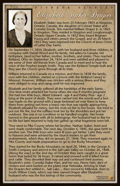 Pioneer, Elizabeth Draper Staker