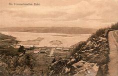 Sarpsborg, Eidet. Tømmertunellen. Tidlig 1900-tallet Foto: Th. Børstad