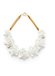 The Cools -- Rose Necklace | White by Ebony Fleur