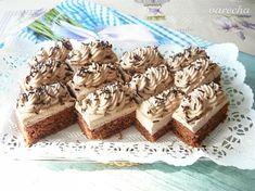 Orechové rezy s mascarponovo-nutellovým krémom - recept | Varecha.sk Nutella, Cheesecake, Stuffed Mushrooms, Food And Drink, Treats, Vegetables, Sweet, Hampers, Mascarpone