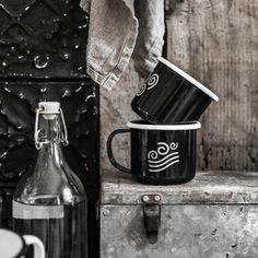 Mesele enamel mugs,symbols element water and air