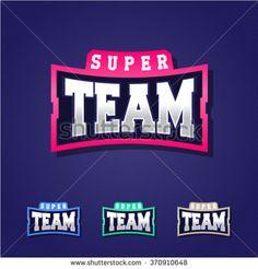 Sport team power full typography, t-shirt graphics, vectors - stock vector