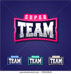 Sport team power full typography, t-shirt graphics, vectors - stock vector