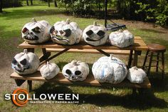 Stolloween pumpkins - paper mache at the next level. A bit much for me, but cool none the less.