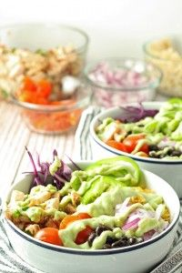 Leftover Chicken Burrito Bowls - Honey and BirchHoney and Birch