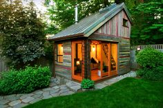 Pallet shed for outdoor sanctuary.
