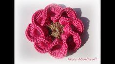 For more free pattern & tutorial click here  .... Crochet, Flower, Crochê, Pet,