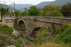 Corsica, Frankrijk. Verkeersbrug nabij het plaatsje Barchetta