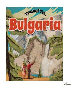Bulgaria Vintage Travel Poster , VINTAGE POSTER ,