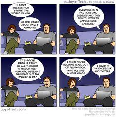 It's social media's fault!