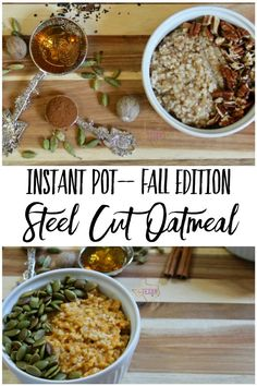 Instant Pot Steel Cut Oats for fall are the PERFECT breakfast-- Apple Pie, Pumpkin Pie, Pecan Pie, and Chai Tea Steel Cut Oats all make for yummy combinations of flavors to keep your Instant Pot Steel Cut Oatmeal interesting!