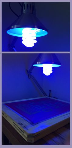 It's easy to turn any lamp into an exposure light with this. Exposing screens the DIY way at home with #Ryonet 's UV bulb | $14.99 #Screenprinting