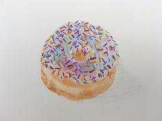 Doughnut, watercolour by Paulette Farrell