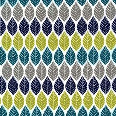 "white flower fabric by Emily Herrick with green, teal and grey leaves, 'Leaf Press' by Michael Miller, Collection ""Rustique"", Design: Emily Herrick Tissu Michael Miller, Michael Miller Fabric, Teal And Grey, Navy And Green, Modern Fabric, Grey Fabric, Patchwork Fabric, Cotton Fabric, Fabric Patterns"