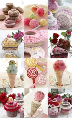 Crochet Sweets & Treats - Free Patterns #crochet #amigurumi