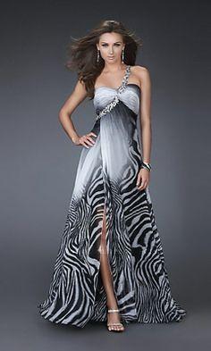 ~Pretty One Shoulder Black White Ombre Print Dress By La Femme http://www.polyvore.com/one_shoulder_black_white_ombre/thing?id=59958131