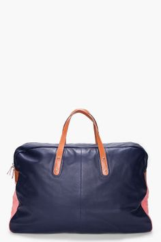 PAUL SMITH  AFXA Pink and Navy Travel Bag
