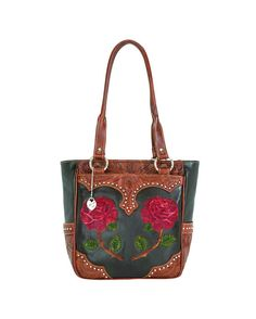 AMERICAN  WEST Roses Are Red Zip-Top Tote @ countryoutfitter.com