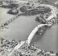 Gladesville bridges, the old and new, side by side. x OzRoads. Aussie Australia, Sydney Australia, Australia Travel, Old Images, Old Pictures, Old Photos, Vintage Photos, Old Bridges, Aboriginal History