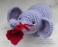 Teri Crews Designs: Free Little Elephant Crochet Pattern