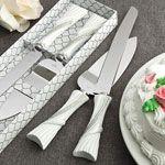 Bling Heart Design Wedding Cake Set