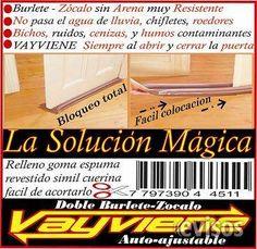BURLETE-CHIFLETES-PUERTA BAJO LAS PUERTAS LA SOLUCIÓN MAGICA BURLETE VAYVIENE  AHORRO ENERGETICO  BURLETES VAYVIENE LA ... http://balvanera.evisos.com.ar/burlete-chifletes-puerta-id-960564